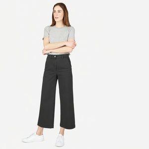 Everlane 2019 NWT Wide Leg Crop Pant In Black